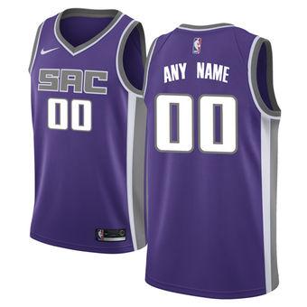 Men's Sacramento Kings Nike Purple Swingman Custom Icon Edition Jersey