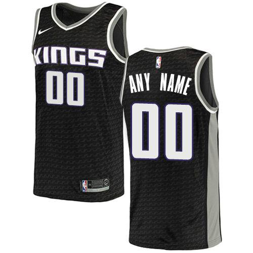 Men's Sacramento Kings Nike Black Swingman Custom City Edition Jersey