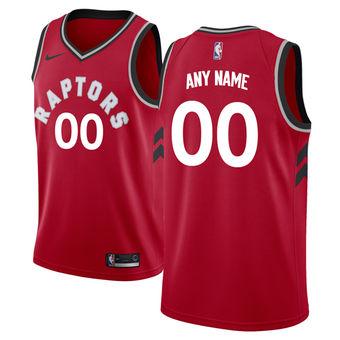 Men's Toronto Raptors Nike Red Swingman Custom Icon Edition Jersey