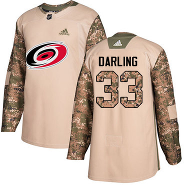 Adidas Hurricanes #33 Scott Darling Camo Authentic 2017 Veterans Day Stitched Youth NHL Jersey