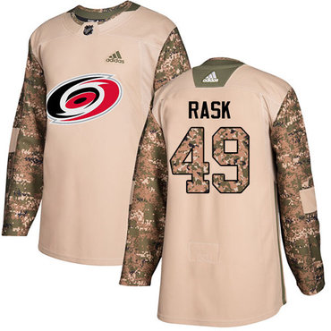 Adidas Hurricanes #49 Victor Rask Camo Authentic 2017 Veterans Day Stitched Youth NHL Jersey