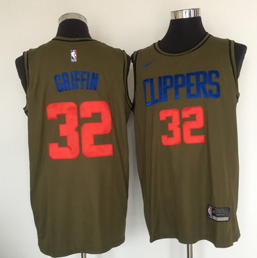 Los Angeles Clippers #32 Blake Griffin Olive Nike Swingman Jersey