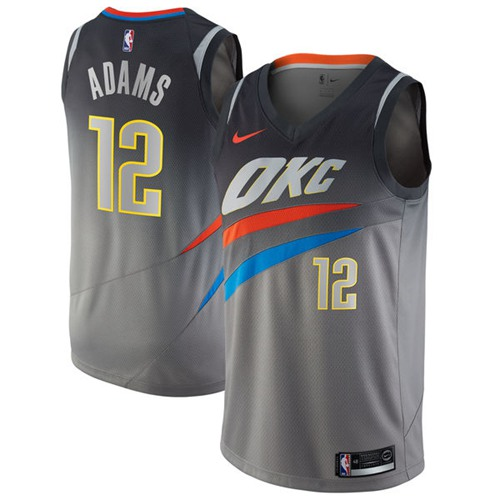 b1b2ad79 Nike Oklahoma City Thunder #12 Steven Adams Gray NBA Swingman City Edition  Jersey