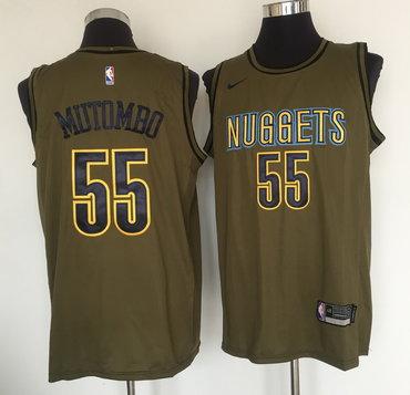 Nike Nba Nikola Jokic Denver Nuggets City: Denver Nuggets #55 Dikembe Mutombo Olive Nike Swingman