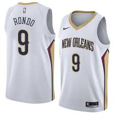 Nike New Orleans Pelicans #9 Rajon Rondo White NBA Swingman Association Edition Jersey