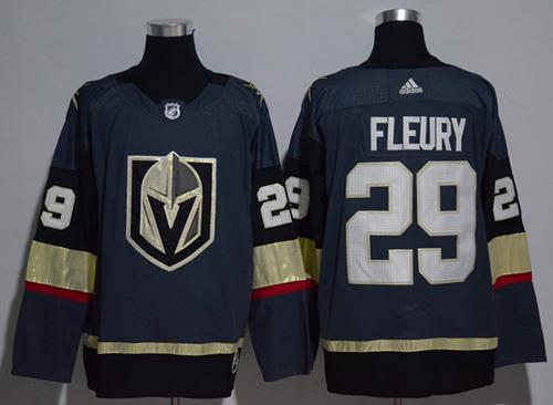 Youth Adidas Vegas Golden Knights #29 Marc-Andre Fleury Grey Home Authentic Stitched NHL Jersey