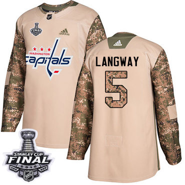 Adidas Capitals #13 Jakub Vrana Green Salute to Service 2018 Stanley Cup Final Stitched NHL Jersey