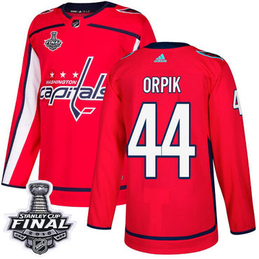 Adidas Capitals #44 Brooks Orpik Red Home Authentic 2018 Stanley Cup Final Stitched NHL Jersey