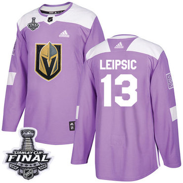 Adidas Golden Knights #13 Brendan Leipsic Purple Authentic Fights Cancer 2018 Stanley Cup Final Stitched NHL Jersey