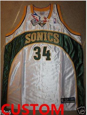 Custom Seattle Supersonics NBA Reebok Jersey