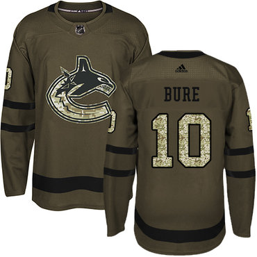 Adidas Vancouver Canucks #10 Pavel Bure Green Salute to Service Youth Stitched NHL Jersey