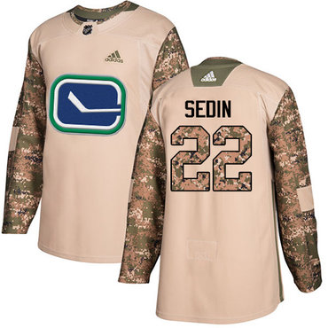 adidas vancouver canucks 22 daniel sedin camo authentic 2017 veterans day youth stitched nhl jersey