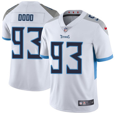 Nike Tennessee Titans #93 Kevin Dodd White Men's Stitched NFL Vapor Untouchable Limited Jersey