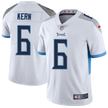 Nike Tennessee Titans #6 Brett Kern White Men's Stitched NFL Vapor Untouchable Limited Jersey