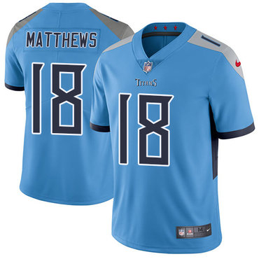 Nike Tennessee Titans #18 Rishard Matthews Light Blue Team Color Men's Stitched NFL Vapor Untouchable Limited Jersey