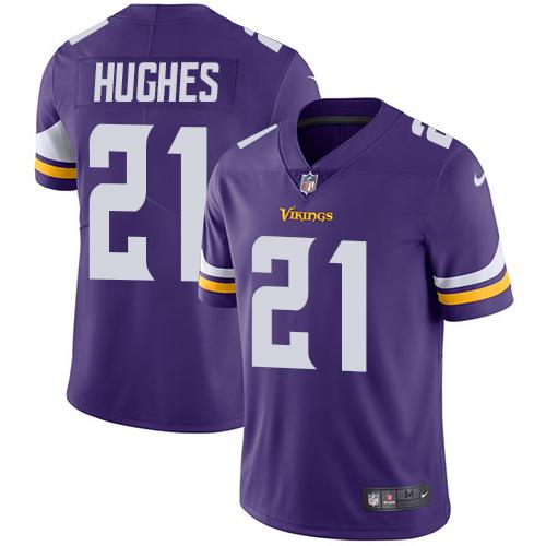 Nike Minnesota Vikings #21 Mike Hughes Purple Team Color Men's Stitched NFL Vapor Untouchable Limited Jersey