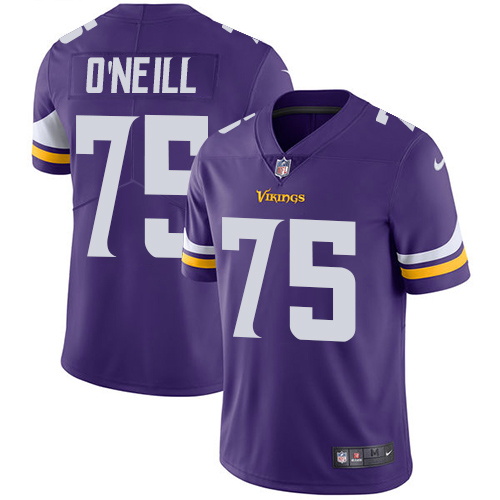 Nike Minnesota Vikings #75 Brian O'Neill Purple Team Color Men's Stitched NFL Vapor Untouchable Limited Jersey