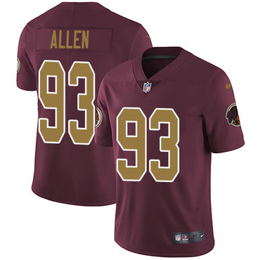 Nike Washington Redskins #93 Jonathan Allen Burgundy Red Alternate Men's Stitched NFL Vapor Untouchable Limited Jersey