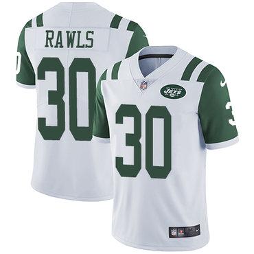 Youth Nike Jets #30 Thomas Rawls White Stitched NFL Vapor Untouchable Limited Jersey