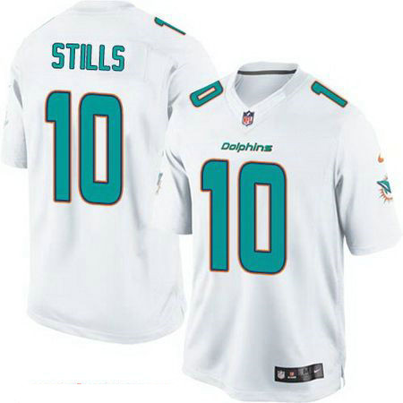 Men's Miami Dolphins #10 Kenny Stills White Road Stitched NFL Nike Game Jersey