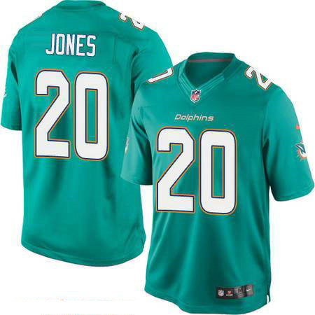 Men's Miami Dolphins #20 Reshad Jones Green Team Color Stitched NFL Nike Game Jersey
