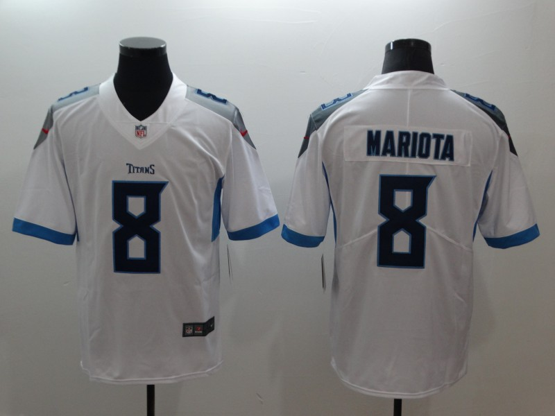 Nike Tennessee Titans #8 Marcus Mariota White Vapor Untouchable Limited Jersey