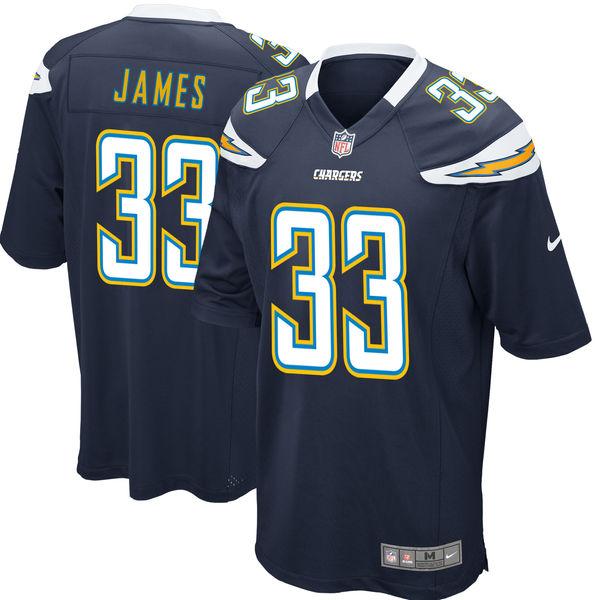 3064e8b4b Nike Los Angeles Chargers #33 Derwin James Navy 2018 NFL Draft Pick Elite  Jersey