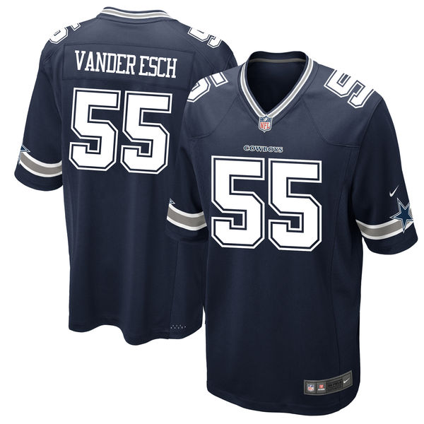 Wholesale Nike Dallas Cowboys #55 Leighton Vander Esch Navy 2018 NFL Draft  hot sale