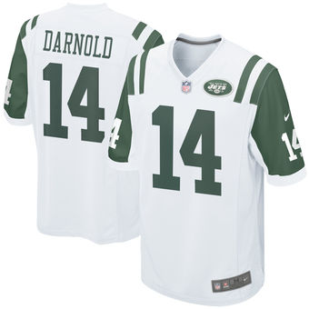 a84177636 Nike New York Jets  14 Sam Darnold White 2018 NFL Draft Pick Elite Jersey