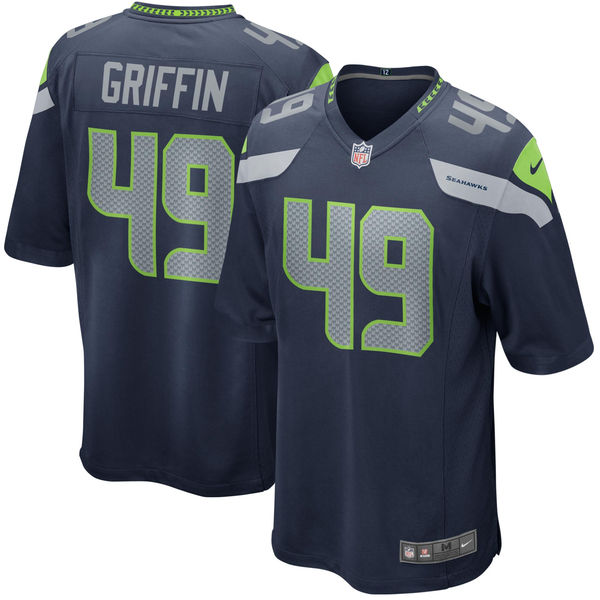 Nike Seattle Seahawks  49 Shaquem Griffin Navy 2018 NFL Draft Pick Elite  Jersey 17a213a0f