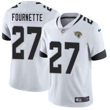 Nike Jacksonville Jaguars #27 Leonard Fournette White Men's Stitched NFL Vapor Untouchable Limited Jersey