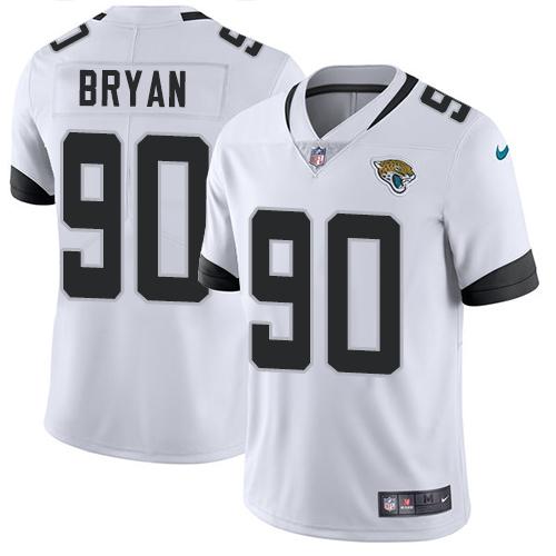 Nike Jacksonville Jaguars #90 Taven Bryan White Men's Stitched NFL Vapor Untouchable Limited Jersey