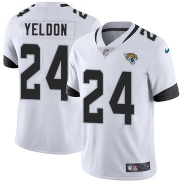 Nike Jacksonville Jaguars #24 T.J. Yeldon White Men's Stitched NFL Vapor Untouchable Limited Jersey