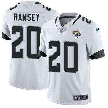 Nike Jacksonville Jaguars #20 Jalen Ramsey White Men's Stitched NFL Vapor Untouchable Limited Jersey