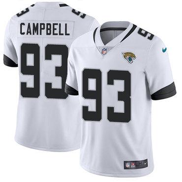 Nike Jacksonville Jaguars #93 Calais Campbell White Men's Stitched NFL Vapor Untouchable Limited Jersey