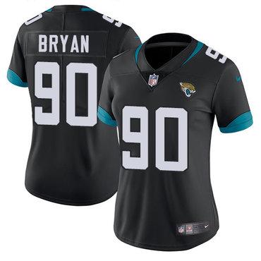 Nike Jacksonville Jaguars #90 Taven Bryan Black Alternate Women's Stitched NFL Vapor Untouchable Limited Jersey