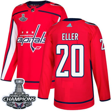 Adidas Washington Capitals #20 Lars Eller Red Home Authentic Stanley Cup Final Champions Stitched NHL Jersey