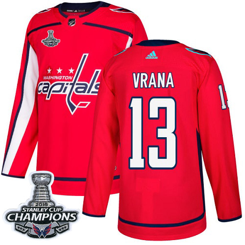 Adidas Washington Capitals #13 Jakub Vrana Red Home Authentic Stanley Cup Final Champions Stitched NHL Jersey