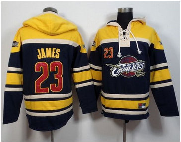 Cleveland Cavaliers #23 LeBron James Navy Blue Sawyer Hooded Sweatshirt NBA Hoodie