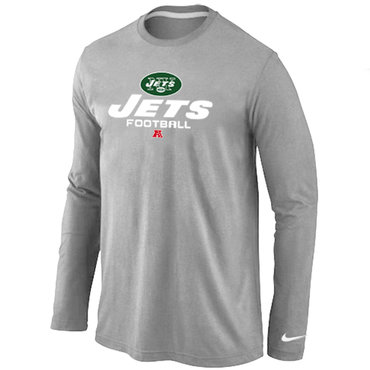 Nike New York Jets Critical Victory Long Sleeve T-Shirt Grey 917ef33b6