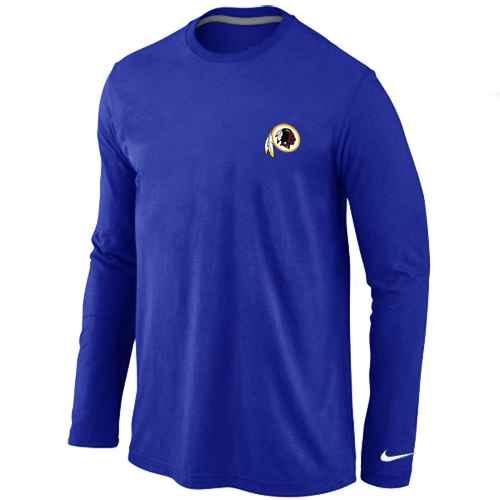 Washington Redskins Sideline Legend Authentic Logo Long Sleeve T-Shirt Blue
