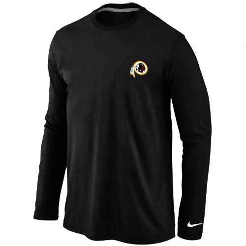 Washington Redskins Sideline Legend Authentic Logo Long Sleeve T-Shirt Black