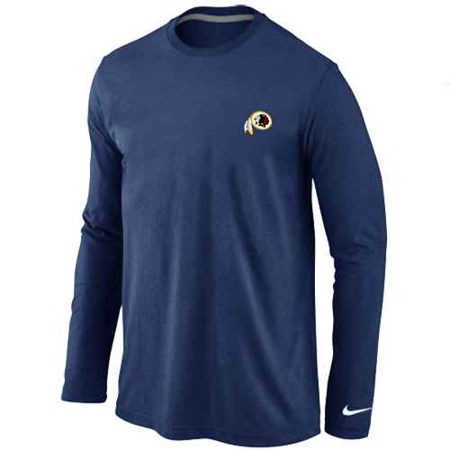 Washington Redskins Sideline Legend Authentic Logo Long Sleeve T-Shirt D.Blue