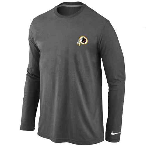 Washington Redskins Sideline Legend Authentic Logo Long Sleeve T-Shirt D.Grey