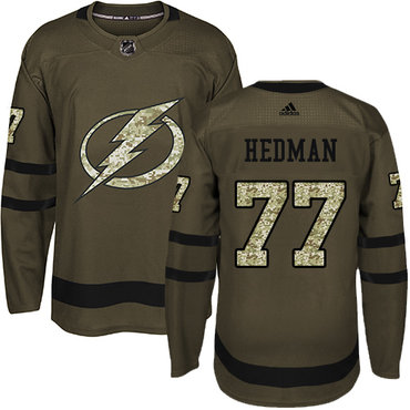 994f7dcefdf Adidas Lightning #77 Victor Hedman Green Salute to Service Stitched NHL  Jersey