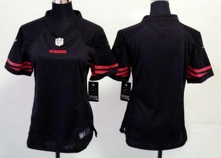 Custom Women's San Francisco 49ers Blank Black Alternate 2015 NFL Nike Game Jersey