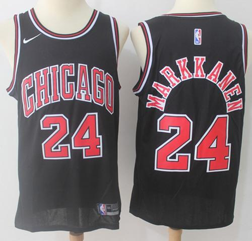 Nike Chicago Bulls #24 Lauri Markkanen Black NBA Swingman Jersey