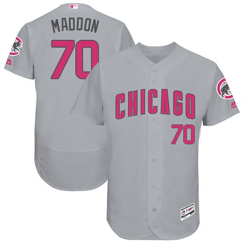 Chicago Cubs #70 Joe Maddon Grey Flexbase Authentic Collection Mother's Day Stitched MLB Jersey
