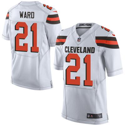 Nike Cleveland Browns #21 Denzel Ward White Men's Stitched NFL ...