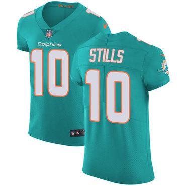 Nike Miami Dolphins #10 Kenny Stills Aqua Green Team Color Men's ...